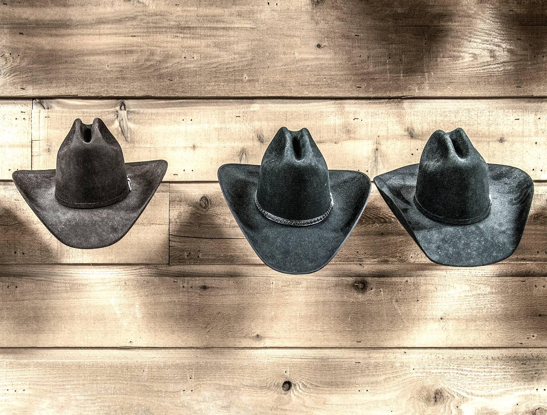 51 Far Fading West, Three Cowboy Hats, 2017