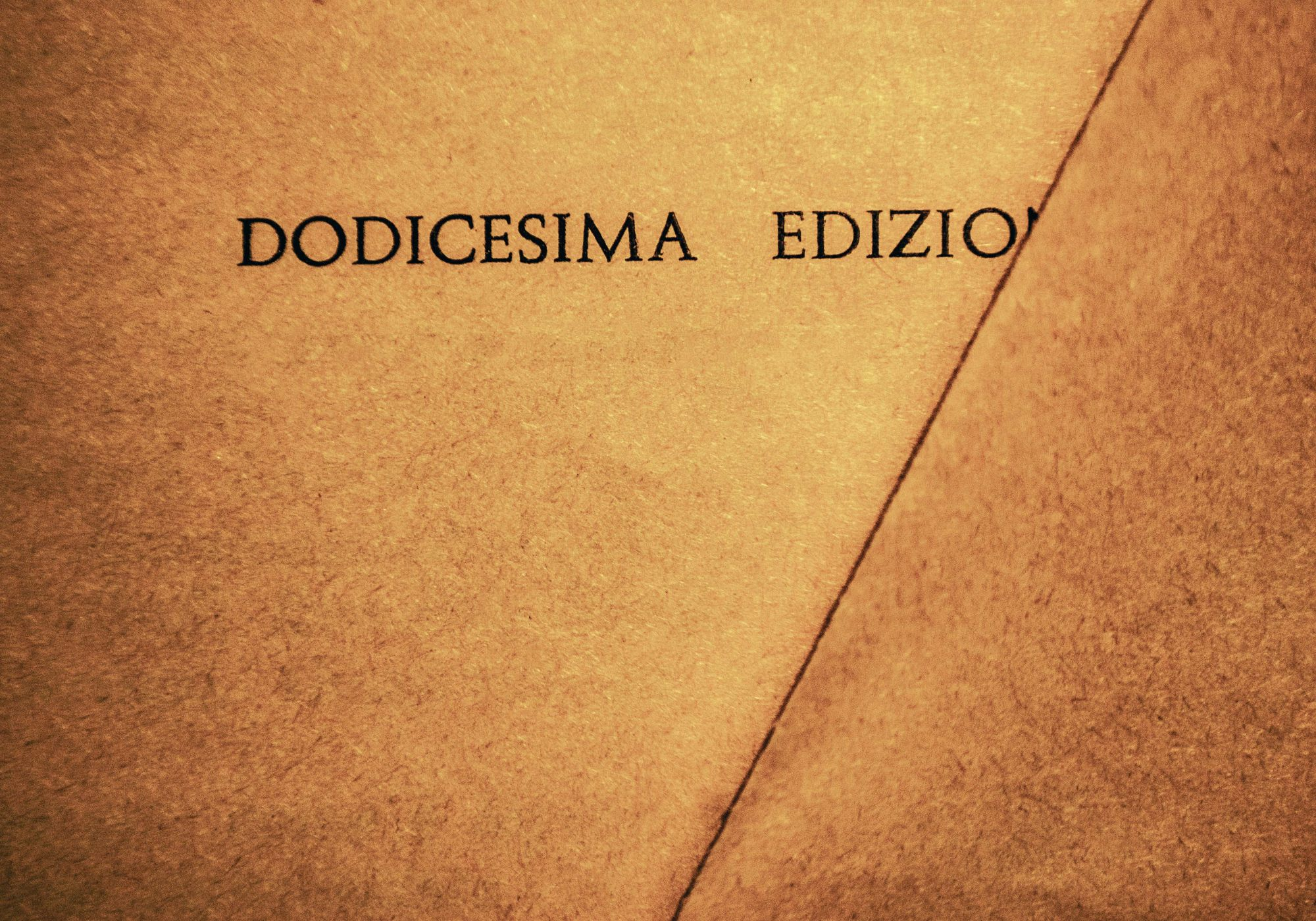 Words #29, Dodici/Twelve, 2013