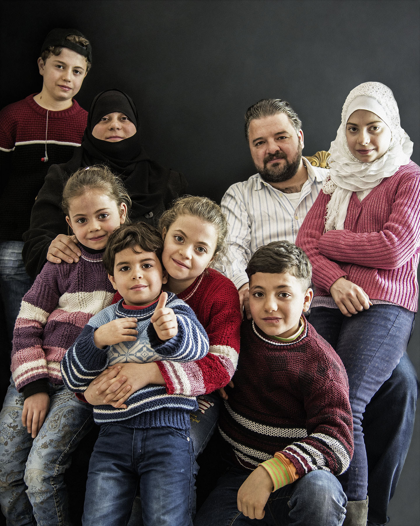 20a Mohammad Nour, Manal, Maram, Khaled, Salwa, Abdulhai, Ahmad e Marwa, Siria, 2017